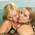 Two Hot Teens Getting It On In A Pool