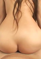 Brunette gets face fucked, pussy fucked and face full of cum