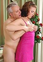 Alana&Caspar hot oldman sex