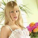 UK blonde teen looks stunning in her white lingerie