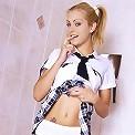 Dressed up as schoolgirl looking hot