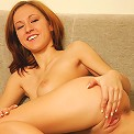 Hungarian honey gets naked on the couch