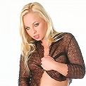 Stunning blonde in sexy studio shoot