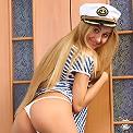 Sexy Ukrainian teen looks sexy as a sailor