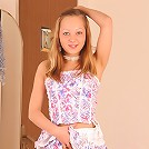Ukrainian babe Alena just loves touching her pussy