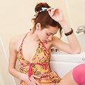 Honey in pink stockings