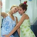 Lesbians take a shower