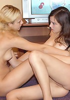 Teens kissing and teasing