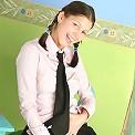 Playful brunette teen
