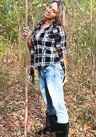 Nikki playing in the woods gets naked and wants you to come chase her