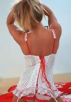 Madden Red White Baby Doll