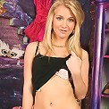Teen babe Rhonda strips down naked in only her heels