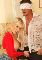 Busty blonde Natalli gets eaten out and then fucked
