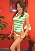 Brunette Lucias big perky boobies
