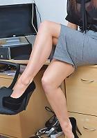 Teen secretary strips