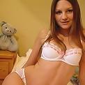 Josie teases in her white panties