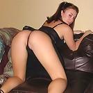 Heidi Honey poses in risque sheer thong..