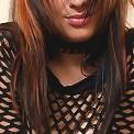 Busty teen in mesh top