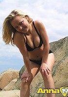 Soft blonde girl rough rock and some posing
