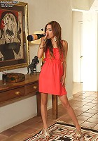 Melanie Rios Panty Stuffing and Wine Bottle Insertion