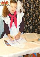 Russian school-girl fucked
