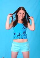 Teen Suzi standing in her panties