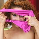 Cute curly redhead