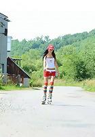 Roller skating babe