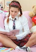 Innocent schoolgirl