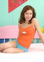 Strange big dildo pleasures teen
