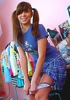 Schoolgirl showing her sweet body