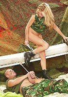 Army teenager gets a facial load
