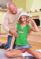 Blonde teen enjoys a cock inside