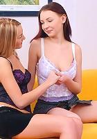 Two teenage girls pleasing pussy