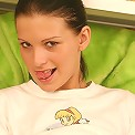 Teen gives a peek in her panties
