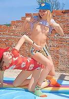 Two teenage lesbian girliefriends