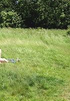 Old guy screwing in an open field