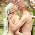 Senior shagging horny blonde babe