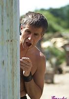 Spying on a hot masturbating babe