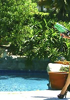 Hot Kelly all wet and horny by the pool