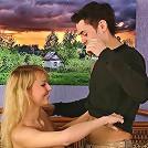 Amateur teen Edmonda with perky boobs sucks cock like a pro