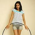 Naughty brunette teen Filipa with hula hoop gets naked
