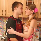 Naughty teen with juicy cunt seduces a plumber