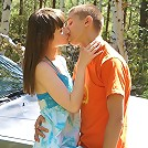 Cute teen Claudia fucked outdoor in the forest