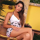 Zafira - Busty stunner undresses and dildos