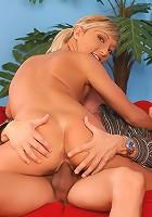 Szabina - Limber blonde sucks and rides cock