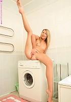 Alex - Innocent cutie fingers on washer
