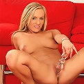 Jenna - Gorgeous blonde strips and dildos