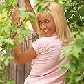 Flirty teen cutie strips by fence