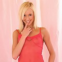 Hanna - Adorable blonde disrobes and rubs